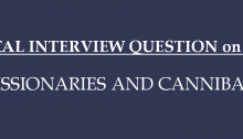 Technical Interview Question on Puzzles: Missionaries and Cannibals