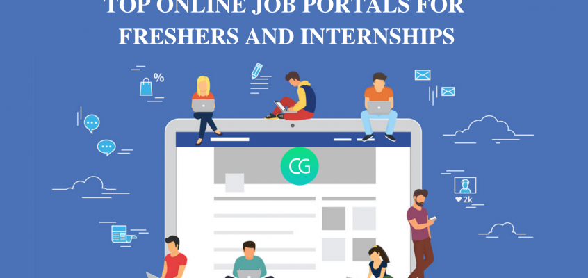TOP ONLINE JOB PORTALS FOR FRESHERS AND INTERNSHIPS