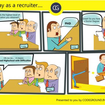 Comic Strip #2 : A Day As A Recruiter.