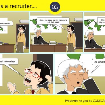 Comic Strip #3: A Day As A Recruiter.