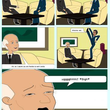 Comic Strip #5: A Day As A Recruiter.