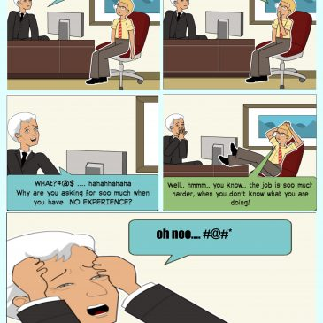 Comic Strip #7: Seven Stages Of Performance Review.