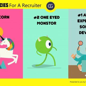 Comic Strip #4: Rare Species For A Recruiter.